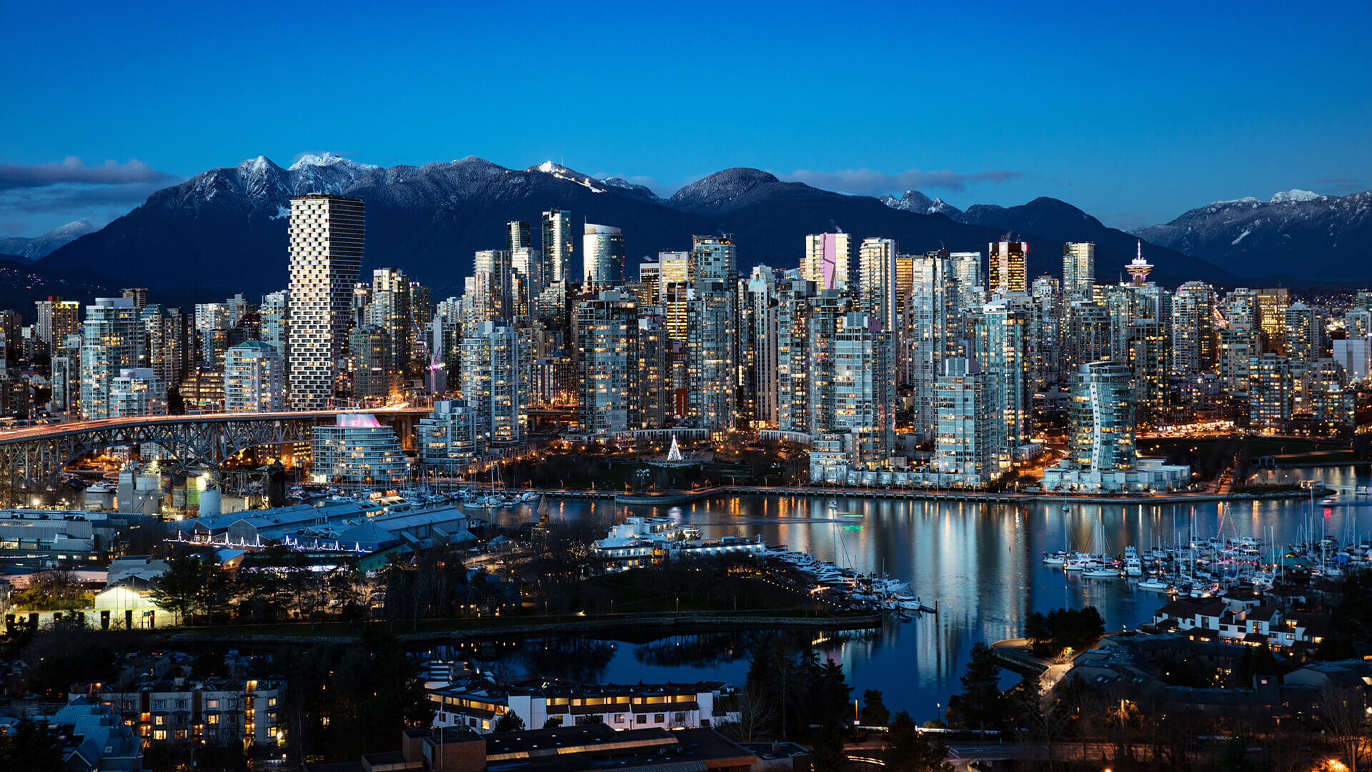 Vancouver evening skyline